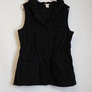 Maty M Hooded Cargo Vest Size XL